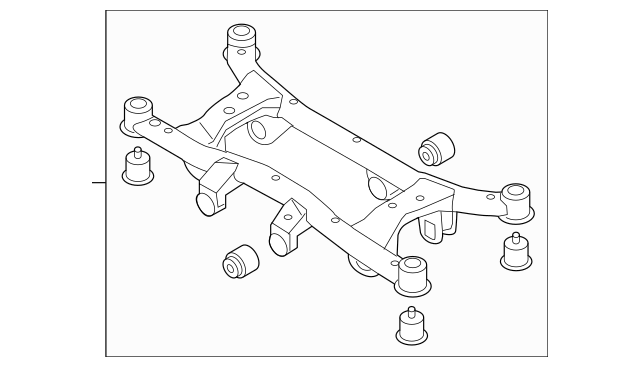 2005-2009 Hyundai Tucson Suspension Cross-Member Assembly
