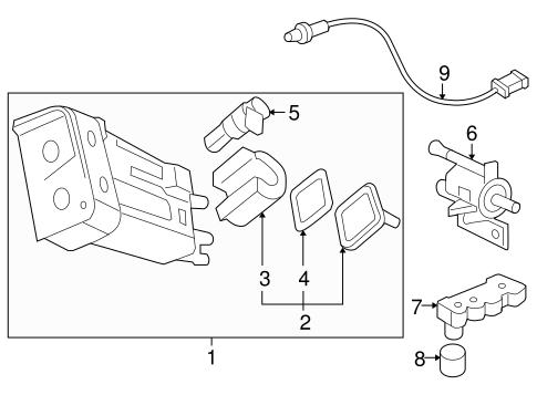 OEM 2009 Chevrolet Cobalt Emission Components Parts