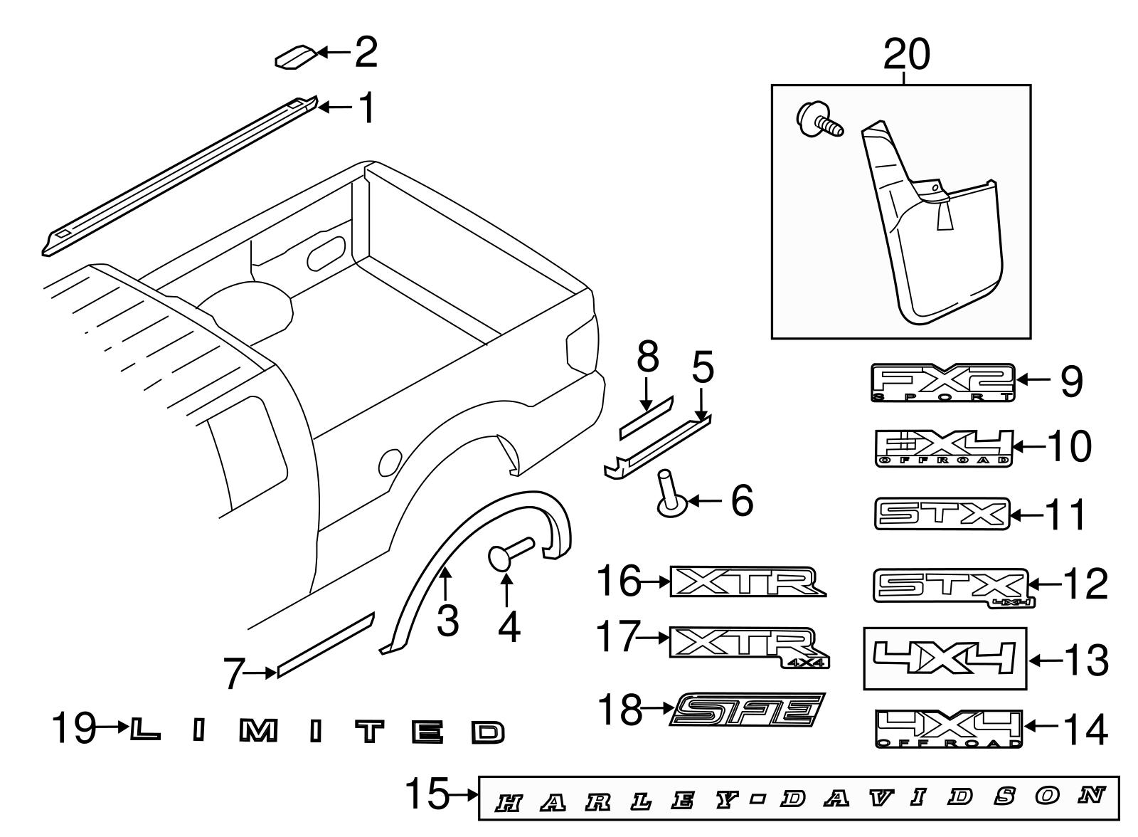 OE Genuine 05-14 Ford F150 Passenger Side Lower Deflector