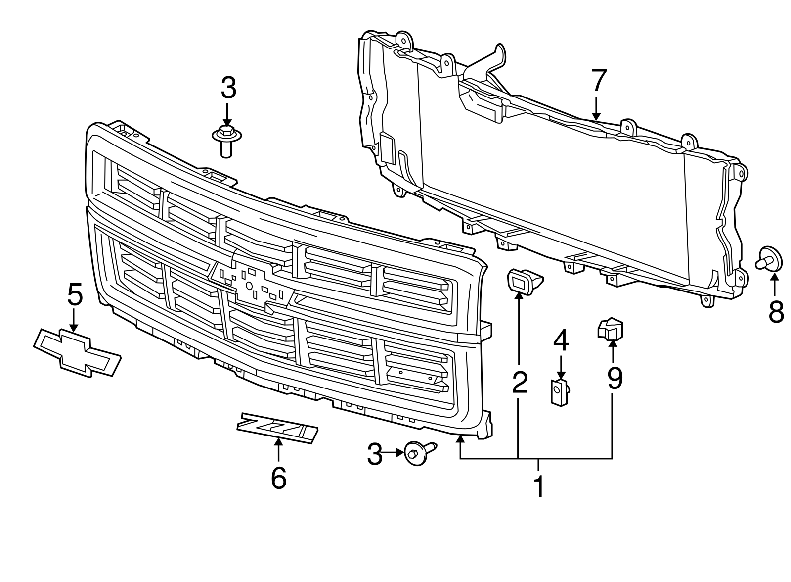 Genuine Gm Grille