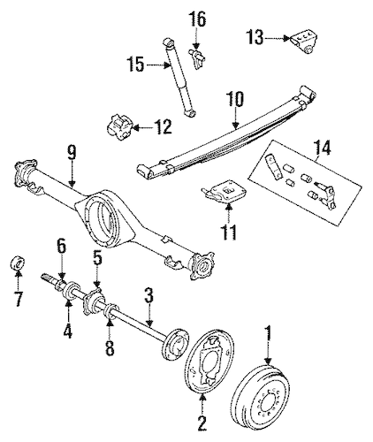 REAR SUSPENSION for 1990 Toyota Pickup