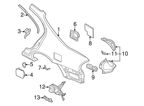 QUARTER PANEL & COMPONENTS for 2003 Nissan Maxima