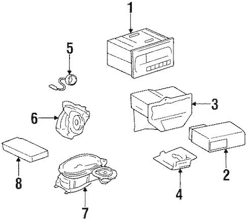 OEM 2001 Oldsmobile Intrigue Sound System Parts