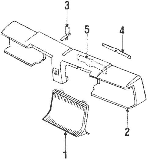 1986 Oldsmobile Cutlass Supreme Parts Diagram : 70 72