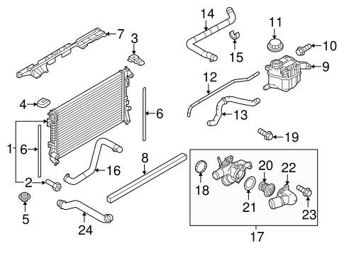 RADIATOR & COMPONENTS for 2016 Ford Taurus