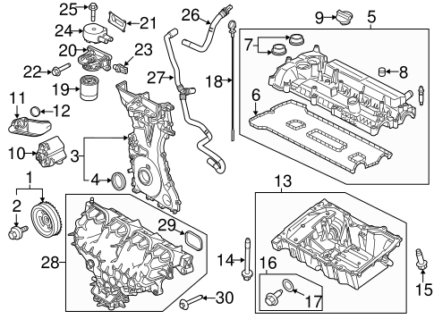 ENGINE PARTS for 2014 Ford Focus