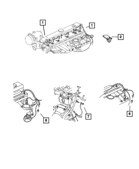 Wiring-Engine & Related Parts for 2001 Jeep Wrangler