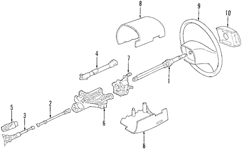 Housing & Components for 1997 Ford E-350 Econoline Club Wagon