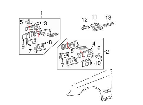 Structural Components & Rails for 2004 Mercedes-Benz C 240