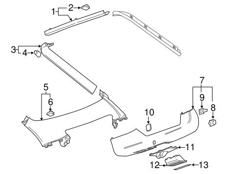 OEM 2012 Chevrolet Volt Interior Trim Parts