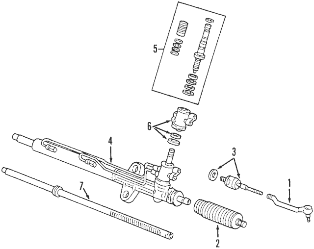Genuine 2003-2005 Honda ACCORD COUPE Rack, Power Steering
