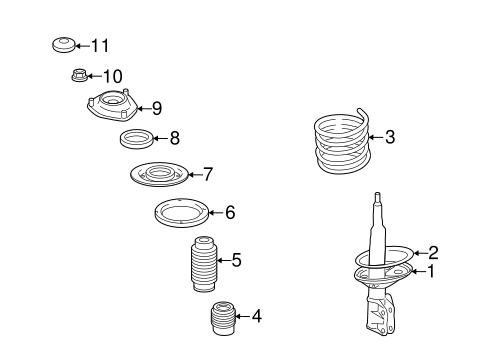 Struts & Components for 2006 Mitsubishi Eclipse