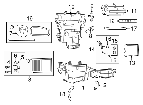 Evaporator & Heater Components for 2011 Jeep Grand