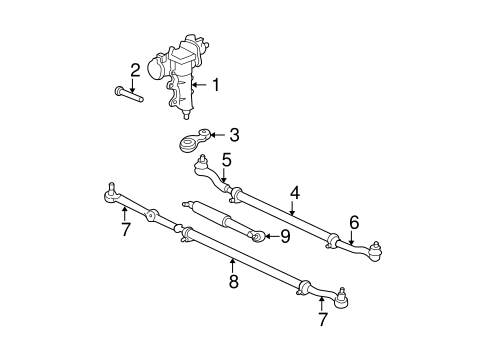 Steering Gear & Linkage for 2000 Jeep Grand Cherokee