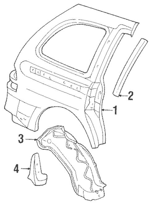 OEM 2000 Ford Windstar Side Panel & Components Parts