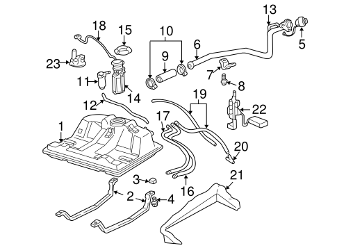 OEM FUEL SYSTEM COMPONENTS for 2002 Chevrolet Impala