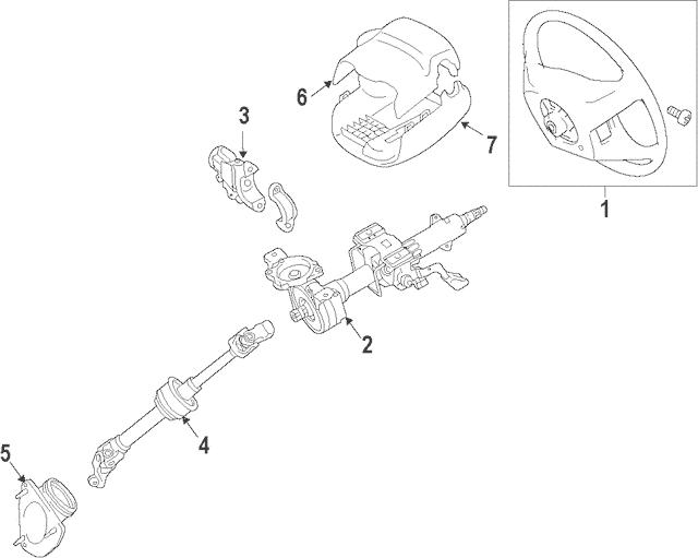 2015-2017 Toyota Camry Steering Wheel 45100-06P60-C1