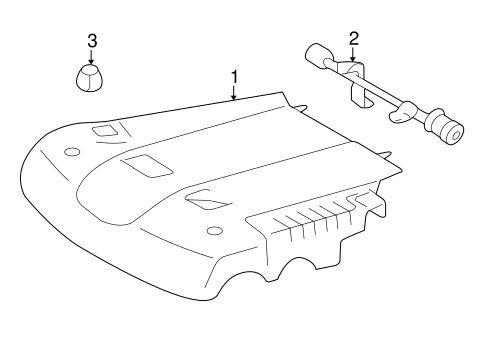 Genuine OEM Engine Appearance Cover Parts for 2007 Toyota