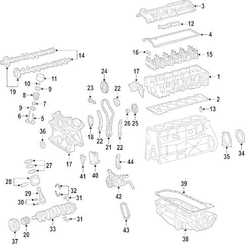 Dodge Engine Engine parts for a 2006 Dodge Sprinter 2500