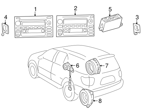 Genuine OEM Sound System Parts for 2007 Toyota Sequoia