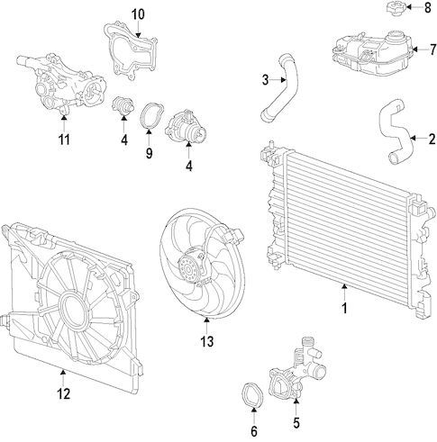 Cooling System 2014 Buick Encore OEM
