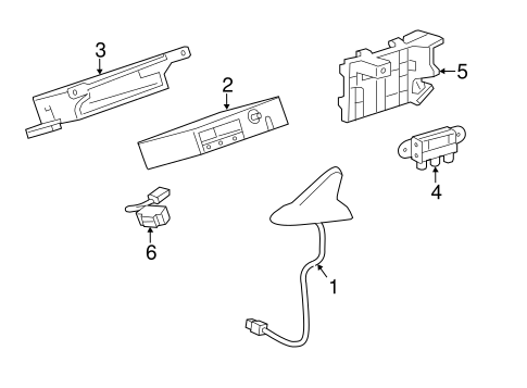OEM 2012 Buick Verano Communication System Components
