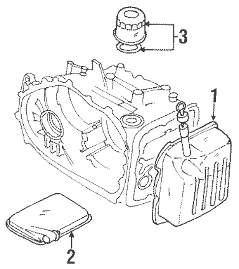 Automatic Transmission for 1997 Mitsubishi Mirage