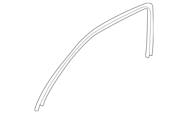 2004-2008 Acura TSX SEDAN Tape Set, R Front Door Sash