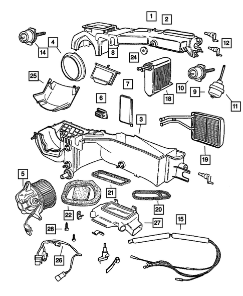 Air Conditioner and Heater Units for 2005 Jeep Wrangler