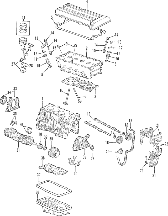 1997-2001 Honda CR-V 5-DOOR Gasket, Cylinder Head Cover
