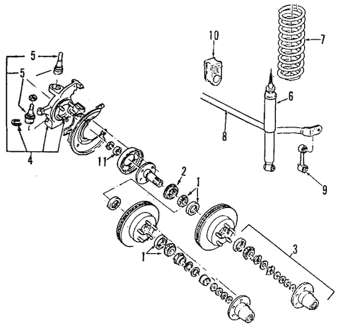 FRONT SUSPENSION for 1994 Ford Ranger