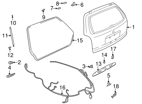 LIFTGATE for 2000 Saturn LW1 (Base)