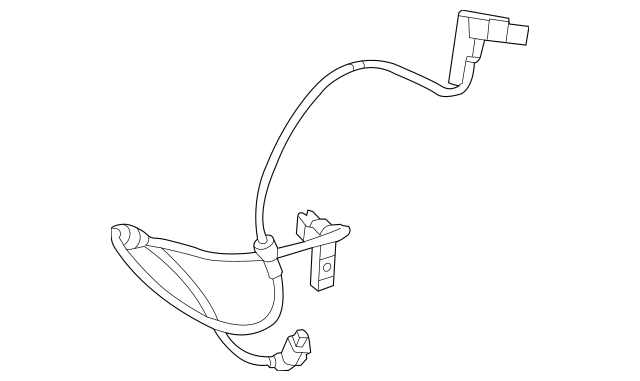 2012-2013 Mercedes-Benz CLS 63 AMG® Wear Indicator Harness
