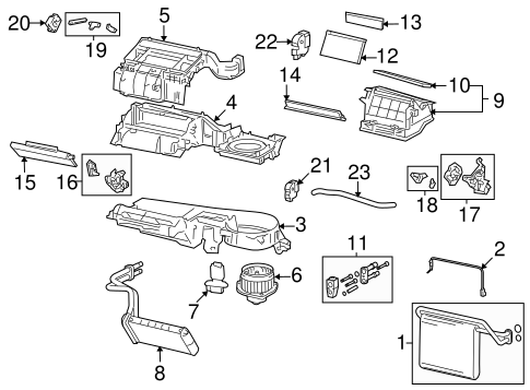 Genuine OEM Evaporator & Heater Components Parts for 2005