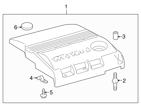Genuine OEM Engine Appearance Cover Parts for 2004 Toyota