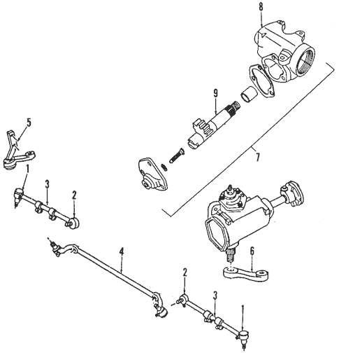 Steering Gear & Linkage for 1986 Dodge Ramcharger