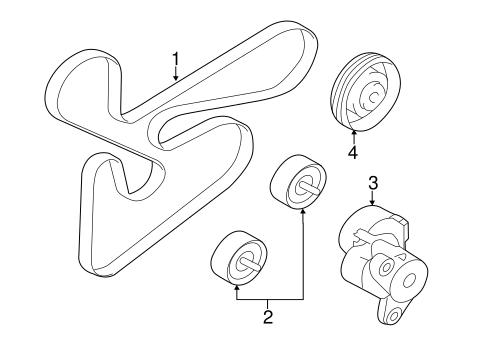 Belts & Pulleys for 2009 Mitsubishi Lancer