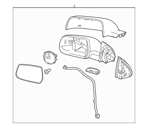 2012-2014 Chevrolet Equinox Mirror Assembly 22818263