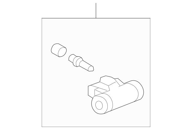 2007-2008 Honda FIT 5-DOOR Cylinder Assembly, Rear Wheel