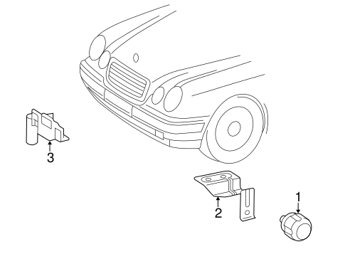 Anti-Theft Components for 1999 Mercedes-Benz CLK 430