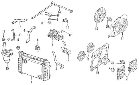 Cooling System for 2002 Pontiac Firebird (Trans Am