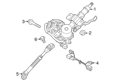 Steering Column Assembly for 2016 Hyundai Sonata