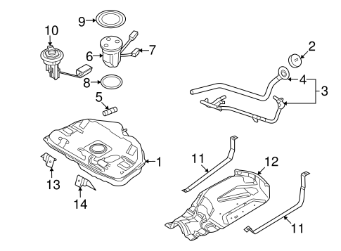 FUEL SYSTEM COMPONENTS for 2008 Ford Fusion