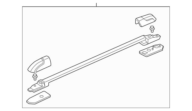 2009-2015 Honda PILOT 5-DOOR Rail Assembly, L Roof *NH533