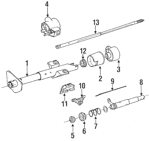 Steering Column Assembly for 1991 Chevrolet Caprice