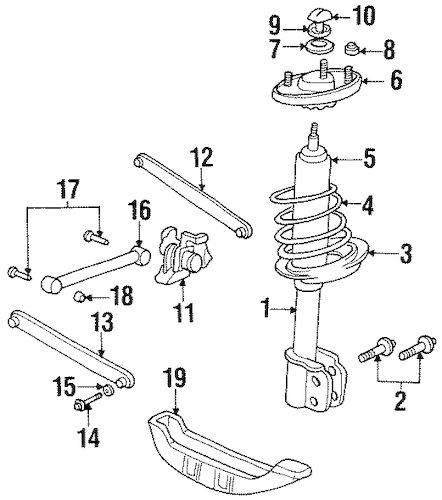 Rear Suspension for 1996 Chevrolet Monte Carlo