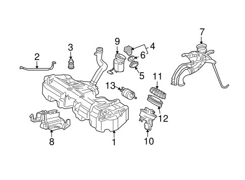 Fuel System Components for 2005 Mercedes-Benz C 230