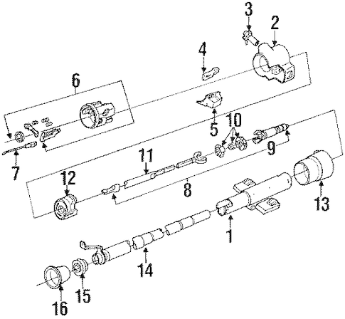 STEERING COLUMN ASSEMBLY for 1994 Pontiac Trans Sport