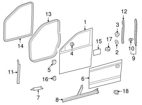 OEM VW Door & Components for 2012 Volkswagen Jetta