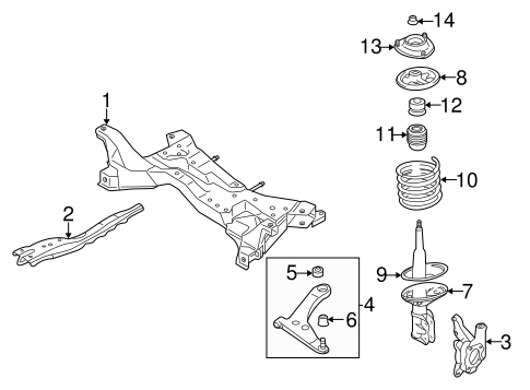 Suspension Components for 2004 Mitsubishi Lancer